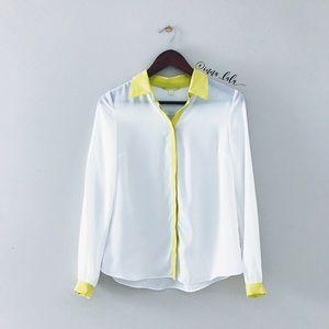 Gianni Bini • Chiffon Button Down Shirt